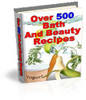 Thumbnail Over 500 Bath And Beauty Recipes