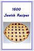 1600 Jewish Recipes