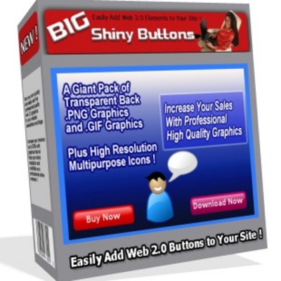 Product picture BIG Shiny Buttons - Web 2.0 Graphics Collection