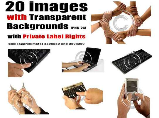 Product picture 20 images with Transparent Backgrounds with PLR Rights