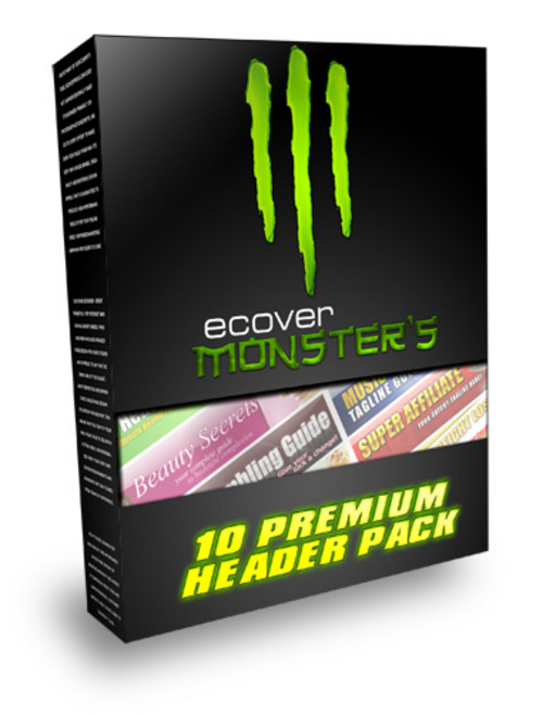 Product picture 10 Premium Header Pack (includes Master Resale Rights)