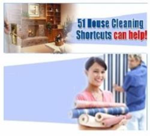 Product picture 51 House Cleaning Shortcuts