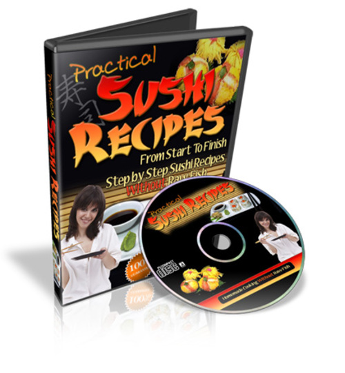 Product picture Sushi Recipes Without Raw Fish, Ebooks and Videos, 1.3GB
